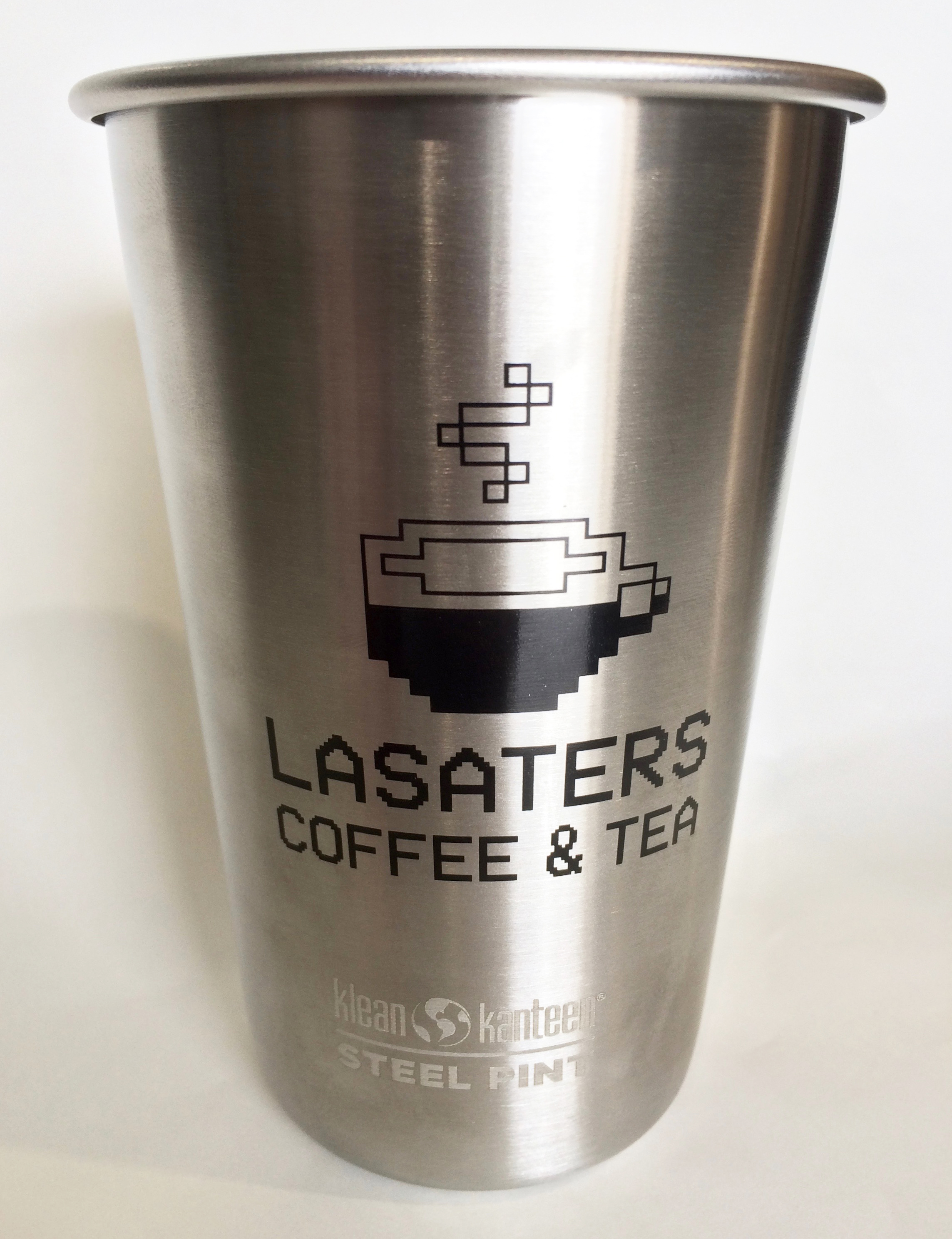 """LASATERS® 16oz """"Caffeine Loading"""" Pint Cold Cup (Stainless Steel)"""