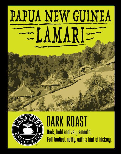 Papua New Guinea Lamari, 12 oz, Dark Roast Coffee - Lasaters Coffee & Tea®